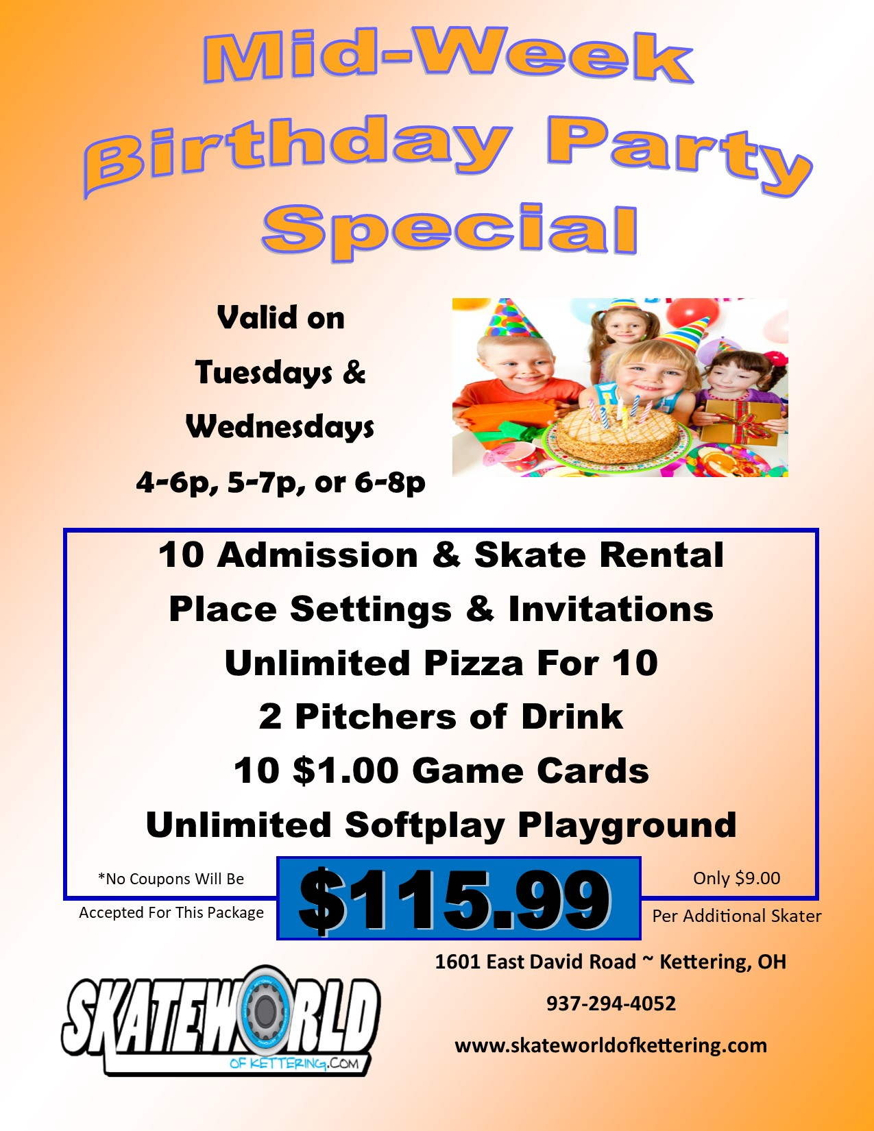 Click Here To Book A Birthday Party